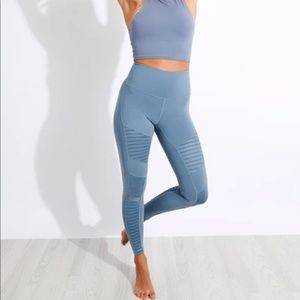 ALO High Waist Blue Moto Legging yoga pants